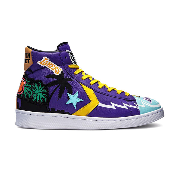 + Chinatown Market x NBA x Jeff Hamilton Pro Leather Hi 'Lakers Championship Jacket'