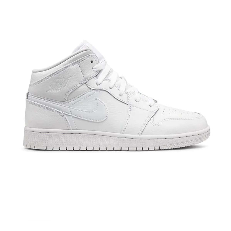 Air Jordan 1 MID GS Triple White