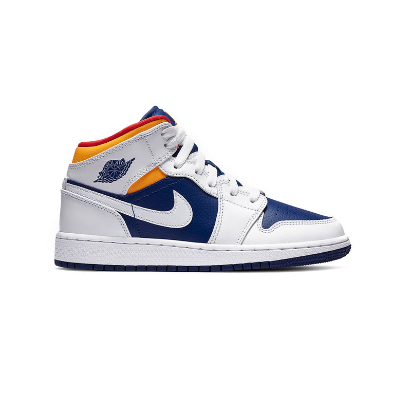 Air Jordan 1 Mid GS 'White Deep Royal Blue'