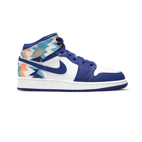 Air Jordan 1 Mid GS 'Geometric Print'