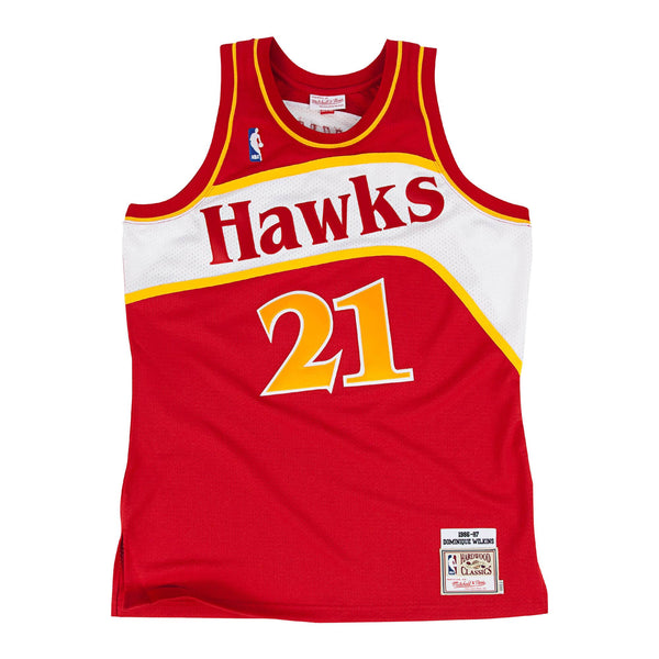 NBA Hardwood Classics Swingman Jersey Atlanta Hawks Dominique Wilkins 1986-87