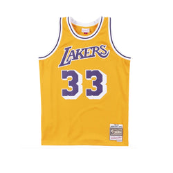 NBA Hardwood Classics Swingman Jersey Los Angeles Lakers Kareem Abdul-Jabbar 1984-85