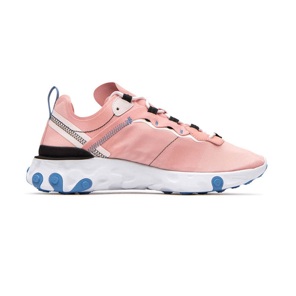 Nike Womens React Element 55 Coral Stardust/Oil Grey-Light Soft Pink