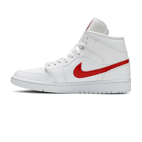 Wmns Air Jordan 1 Mid 'White University Red'