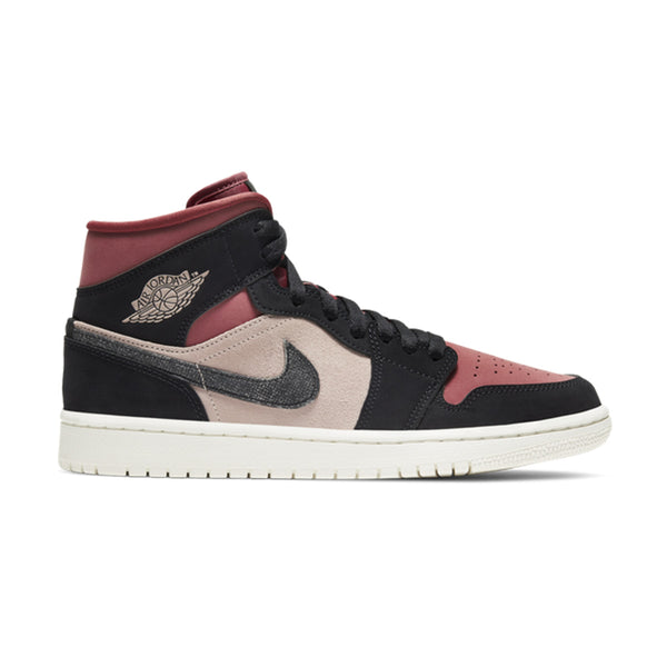 Wmns Air Jordan 1 Mid 'Burgundy Dusty Pink'