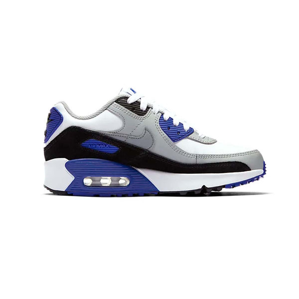 Nike Air Max 90 LTR (GS) White/Light Smoke Grey/Hyper Royal/Particle Grey