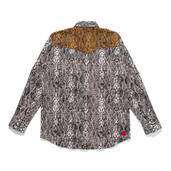 Snake PT Button Up Western Shirt