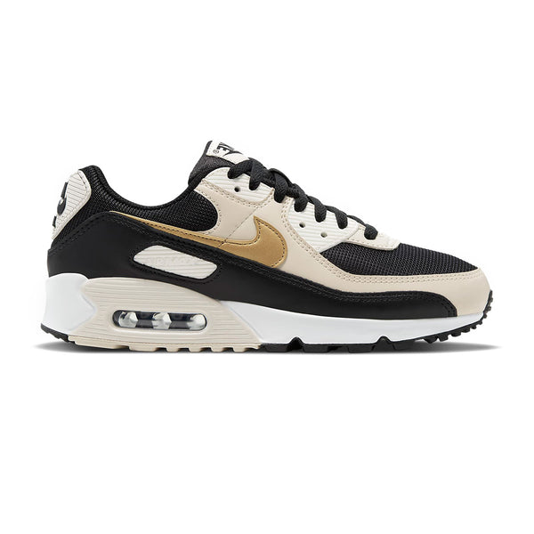 Wmns Air Max 90 'Black Metallic Gold'
