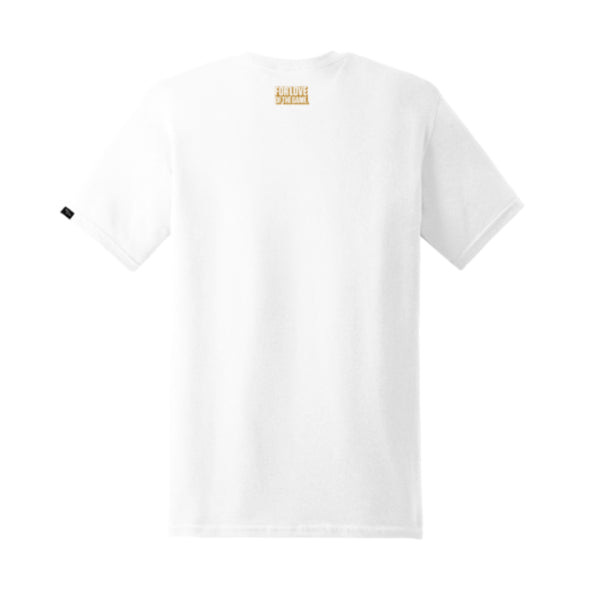 Titan Logo Tee - White/Metallic Gold