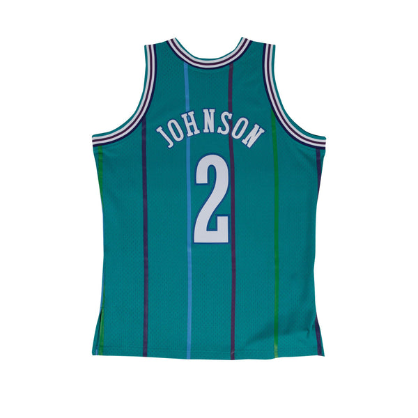 NBA Hardwood Classics Swingman Jersey Charlotte Hornets Larry Johnson 1992-93