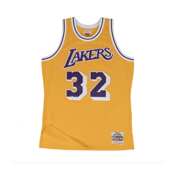 NBA Hardwood Classics Swingman Jersey Los Angeles Lakers Magic Johnson 1984-85