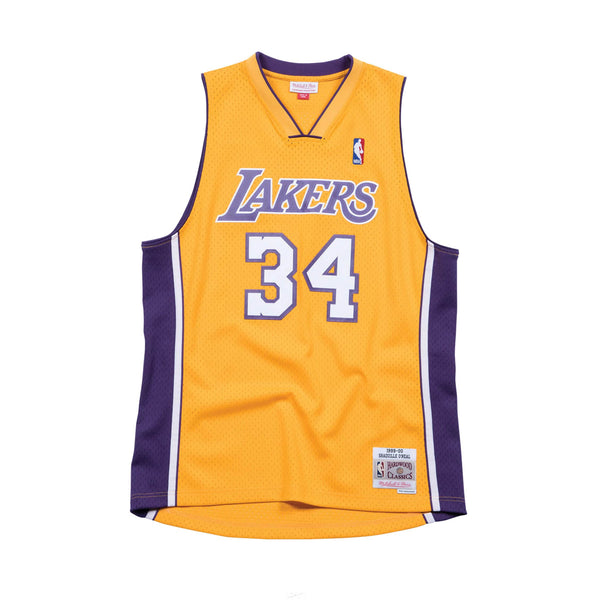 NBA Hardwood Classics Swingman Jersey Los Angeles Lakers Shaquille O'Neal 1999-00