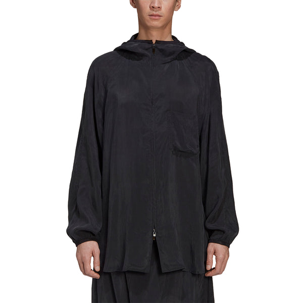 CH3 Sanded Cupro Hooded Top 'Off Black'