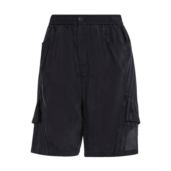CH3 W Sanded Cupro Shorts 'Off Black'