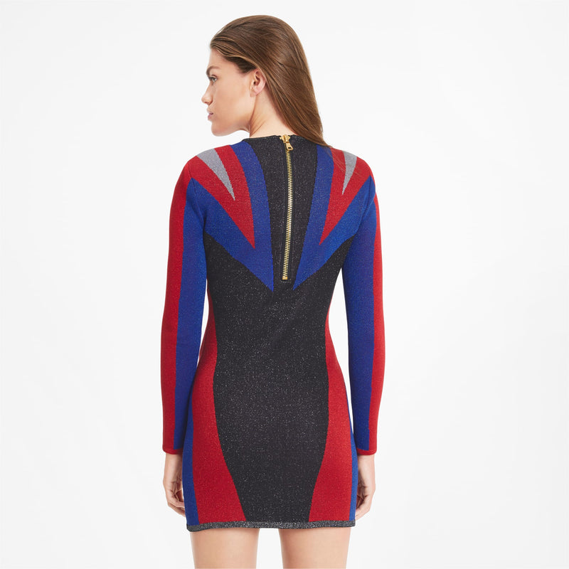 + BALMAIN Jacquard Dress