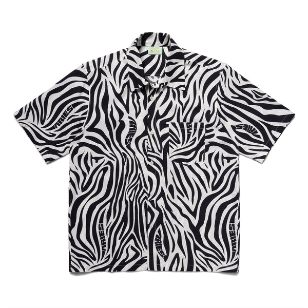 Zebra Print Hawaiian Shirt