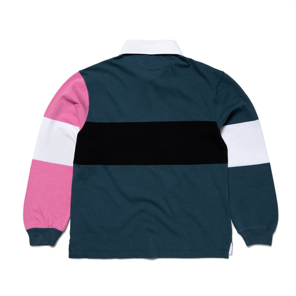 Colour-Blocked Rugby Shirt