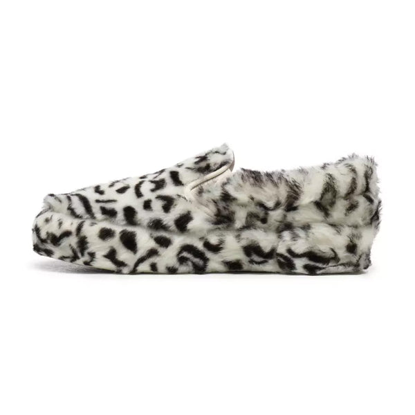 Vans X Sandy Liang Classic Slip-On Platform Shoes (Paws/True White)