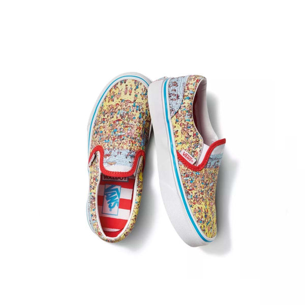 + Where's Waldo? Kids Classic Slip On