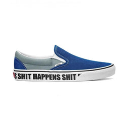 Vans Classic Slip On (Shit Happens) Blueprint/Lead