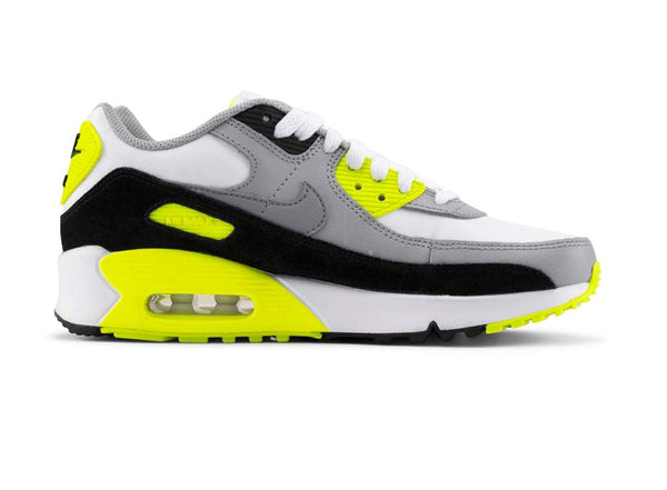 Nike Air Max 90 LTR GS White/Metallic Silver/White