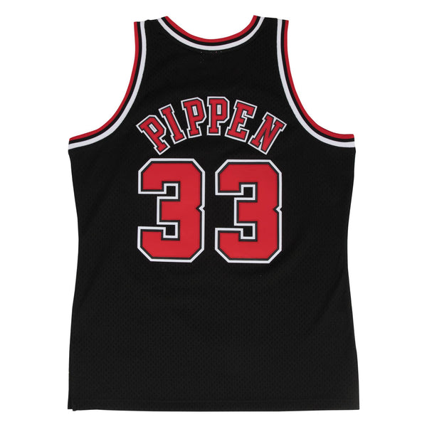 Swingman Jersey Chicago Bulls Alternate 1997-98 Scottie Pippen Black