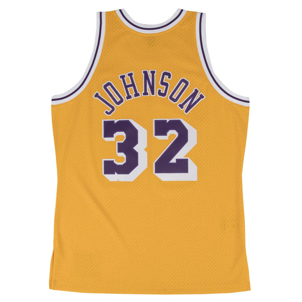 Swingman Jersey Los Angeles Lakers Home 1984-85 Magic Johnson Light Gold