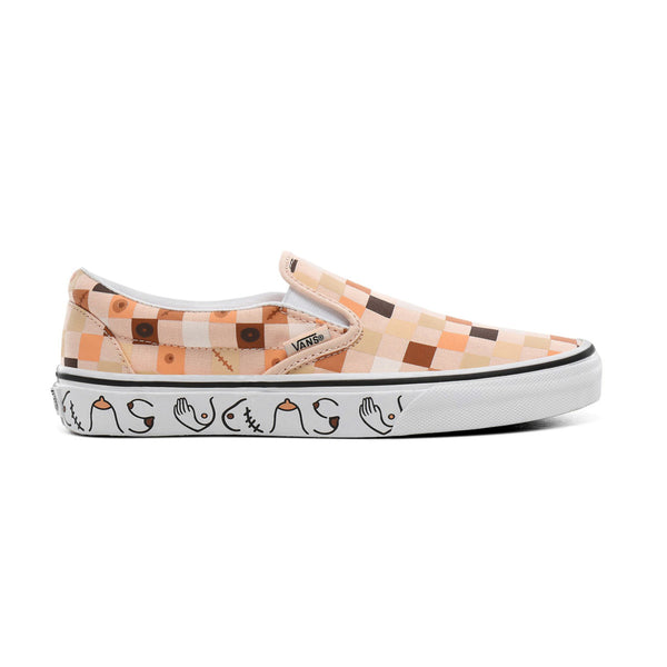 + Breast Cancer Awareness Classic Slip-On 'Nude Check'