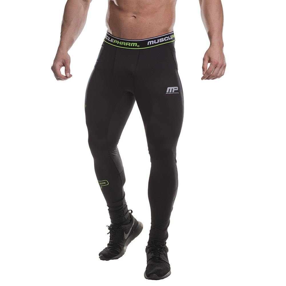 MusclePharm Compression Pant With Mesh Trim