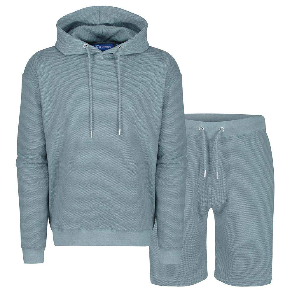 RIPT Essentials Waffle Hooded Top & Shorts Lounge Set