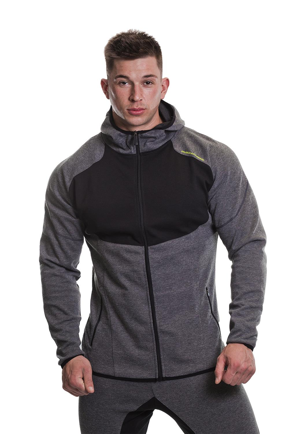 MusclePharm Zip Through Marl Hoodie