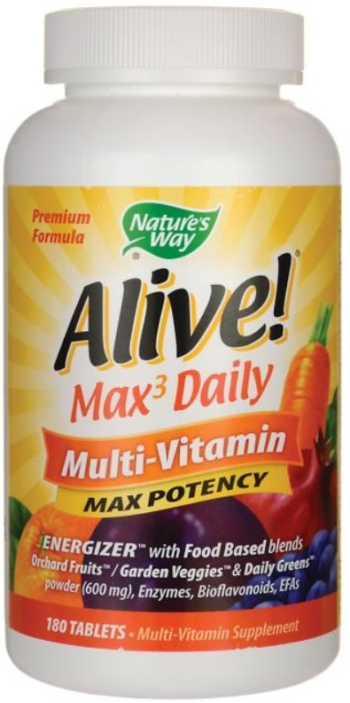Nature's Way Alive! Max3 Daily Multi-Vitamin Max Potency
