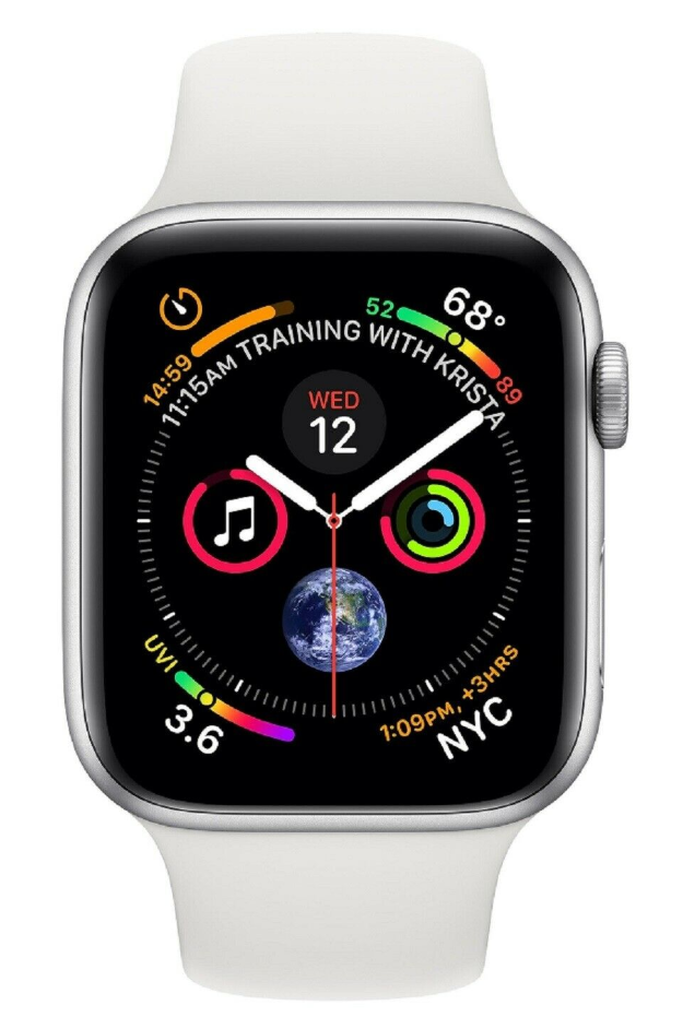 Apple Watch Series 4 40mm GPS Silver Aluminum Case with White Sport Band