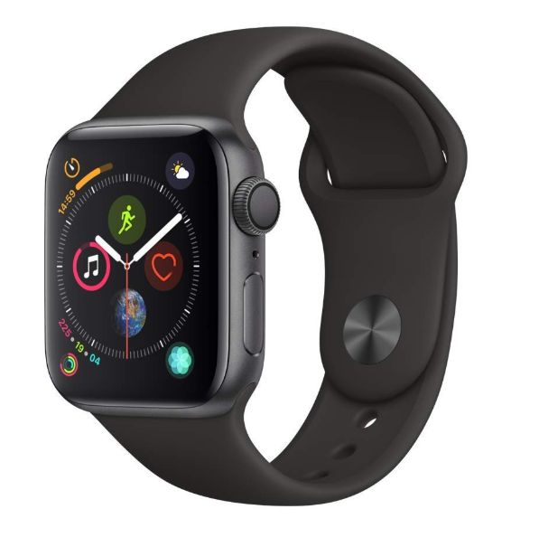Apple Watch Series 4 GPS, 40mm Space Gray Aluminum, Black Sport Loop