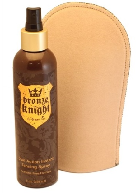 Dream Tan Bronze Knight Tanning Spray With Mitt , Great Long Lasting Glow!