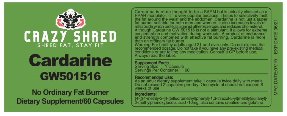 Cardarine - GW501516, No Ordinary Fat Burner