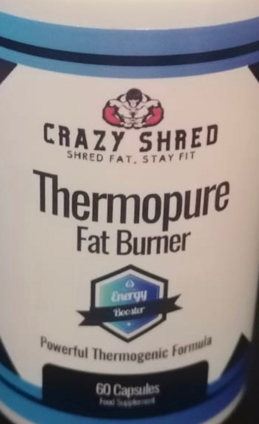 Crazy Shred Thermopure Fat Burner, Intense Fat Burn, Get Shredded Fast