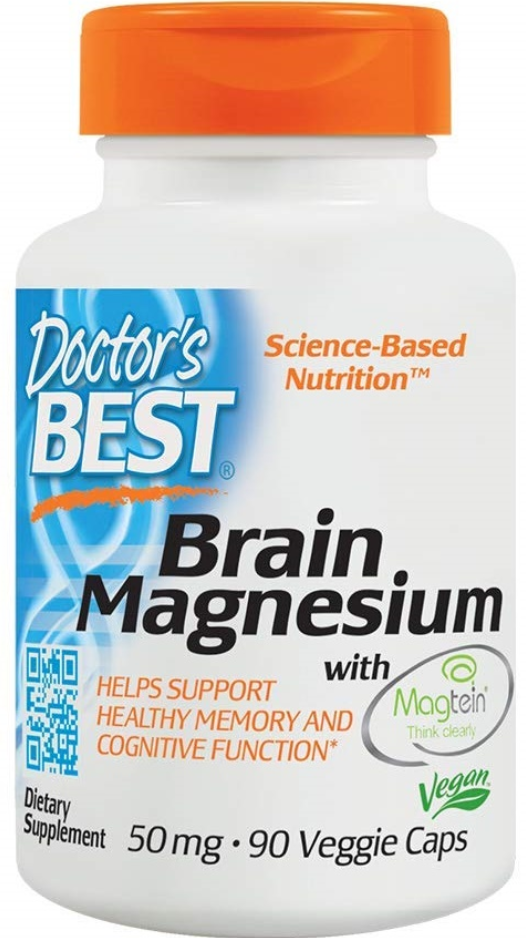 Doctor's Best Brain Magnesium with Magtein, Supports memory, learning and cognitive health