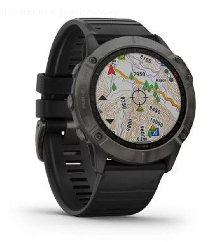 Garmin Fenix 6X Sapphire Watch Carbon Gray DLC with Black Band, Free Deliver and Available On 0% Finance