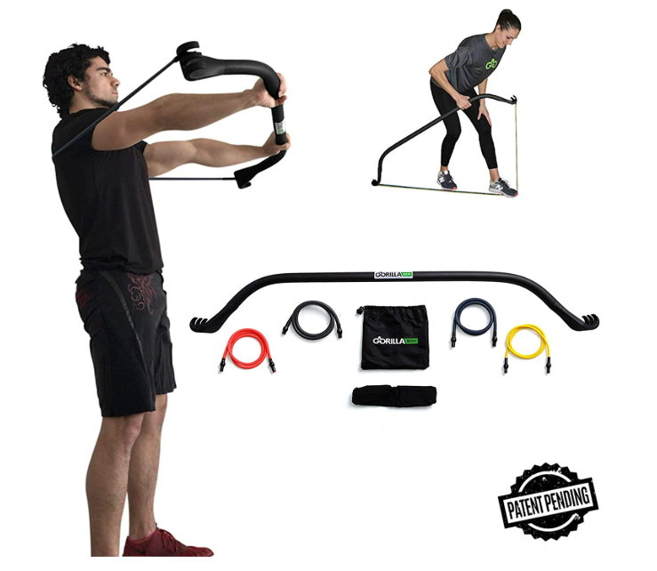 Gorilla Bow Home Gym Resistance Training Kit - Full Body Workouts - Adjustable Bands - Portable Equipment Set, Available on 0% Finance