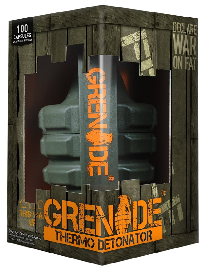 Grenade Thermo Detonator - 100 Caps, Declare War On Fat, Award Winning Fat Burner
