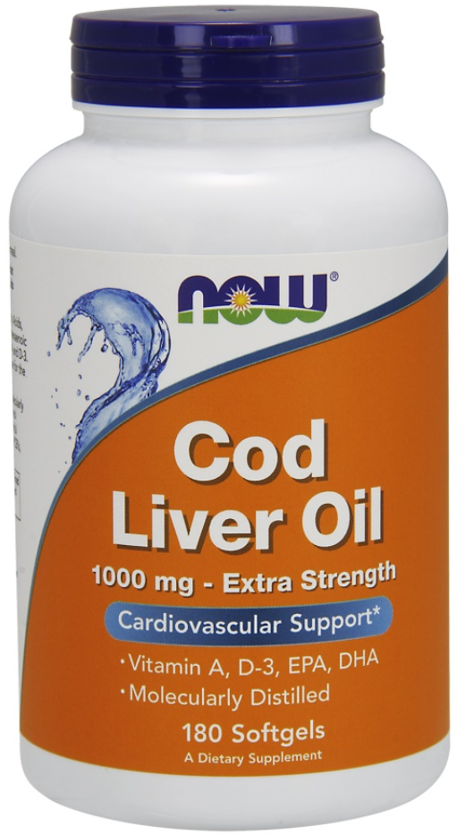 NOW Foods Extra Strength 1000mg Cod Liver Oil Supports Over All Health and Wellbeing