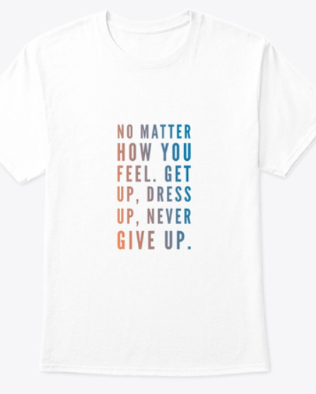 Never Give Up Training Top, Free Shipping and Finance Available