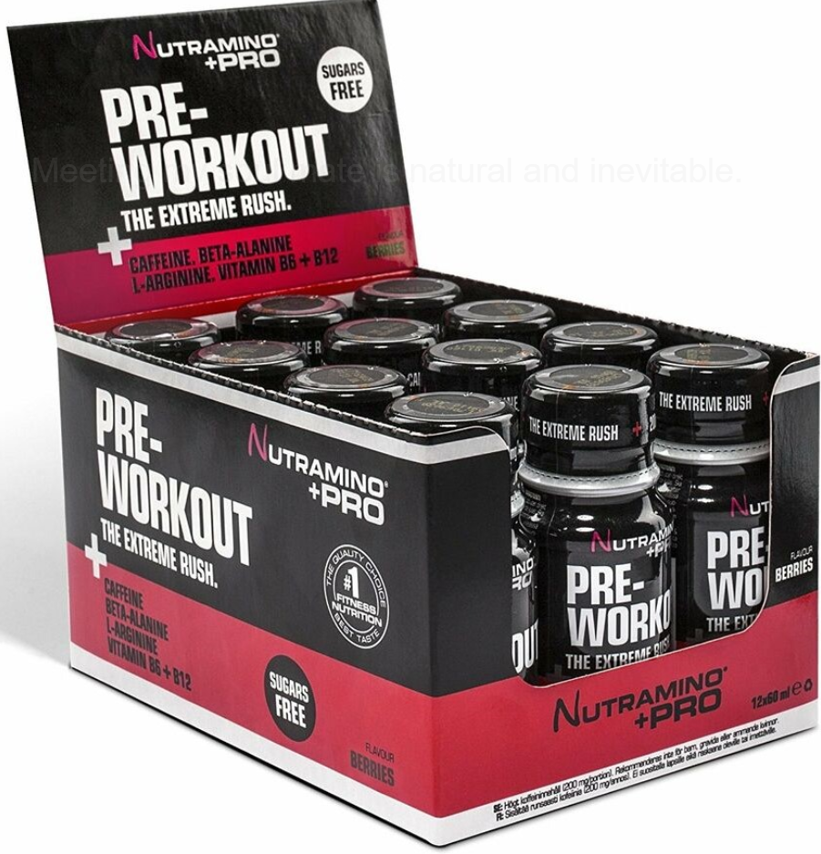 Nutramino Pre Work Out Pro + Shots, Crush Your Work Outs!