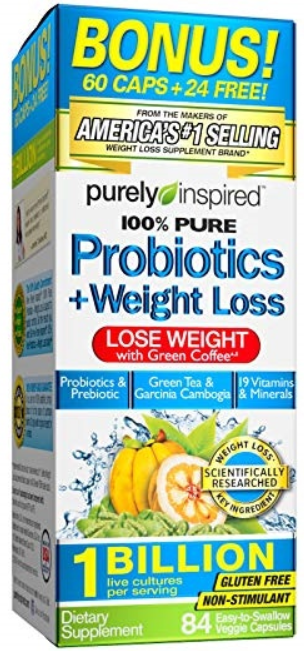 Purely Inspired 100% Pure Probiotics + Weight Loss Look and Feel Great!