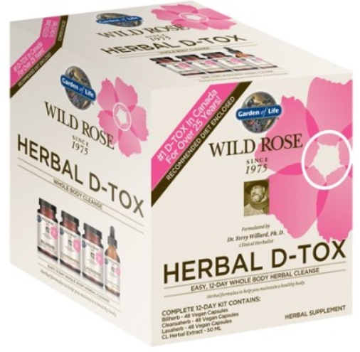 Garden of Life Wild Rose Herbal D-Tox, 12 Day Cleanse