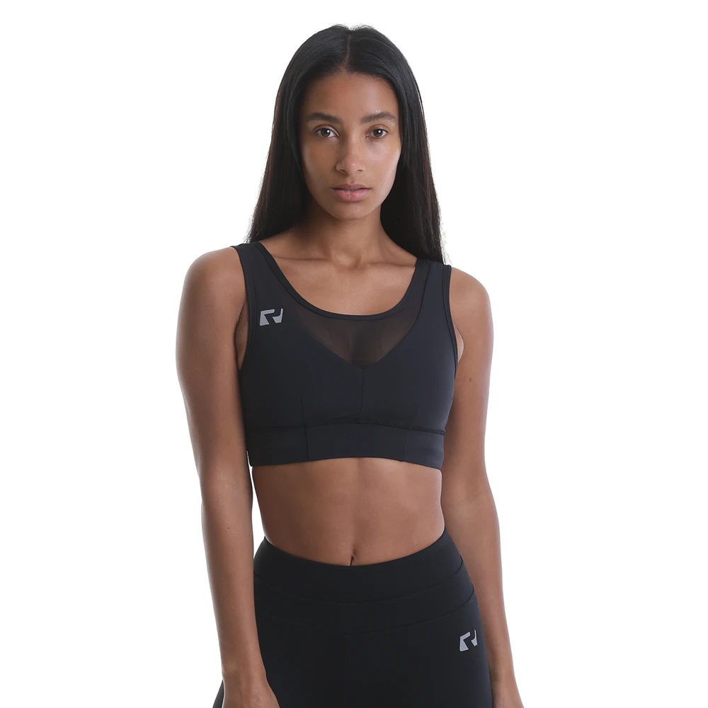 RIPT Performance Mesh Panel Crop Top