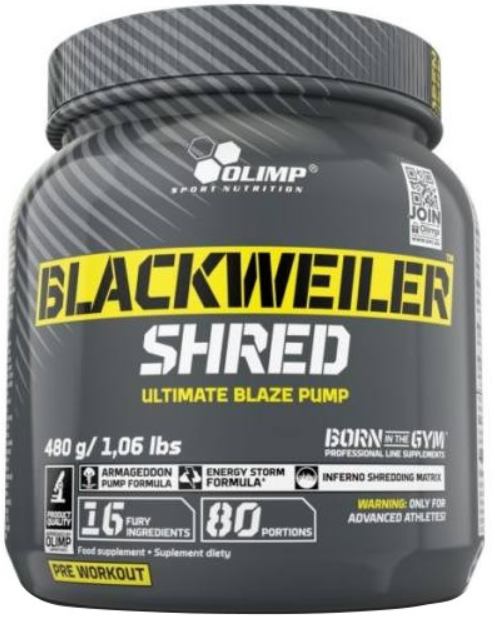 Delete Olimp Nutrition, Blackweiler Shred, Orange - 480g