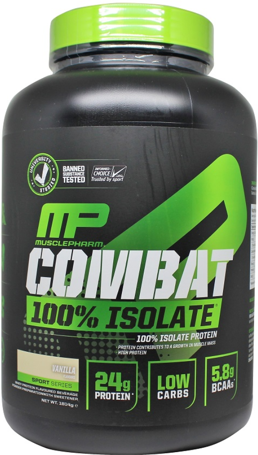MusclePharm Combat 100% Isolate 1814g Highest Quality Isolate