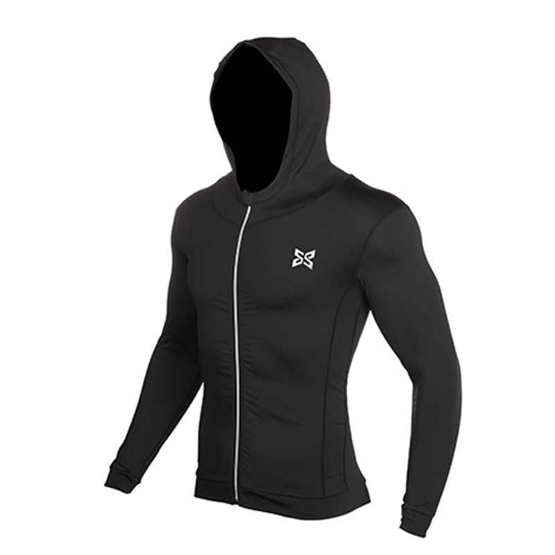 Reflective Running Compression Hoodie